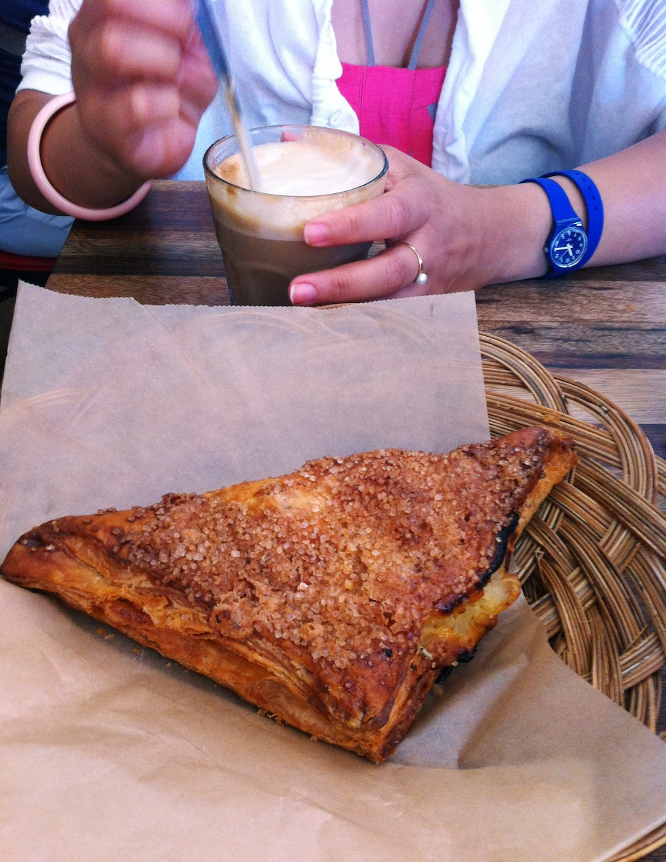 Apple turnover, with one of the best lattes I've had since ...